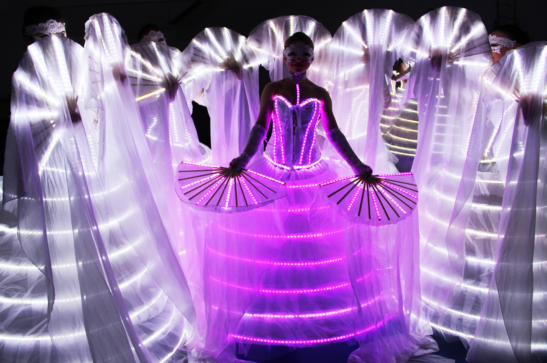 LED Fächer Tanz